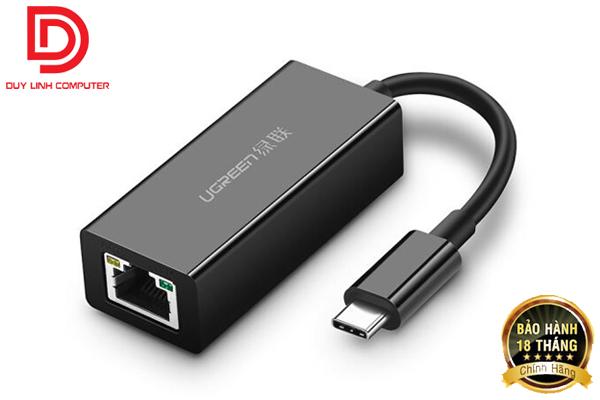 Cáp USB Type C to Lan Gigabit 10/100/1000 chính hãng Ugreen 50307