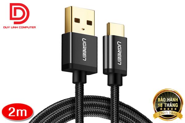 Cáp USB Type C to USB 2.0 Ugreen 40991 dài 2m chính hãng