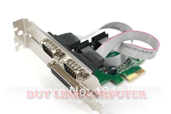 Card PCI E to Com RS232 và cổng máy in LPT
