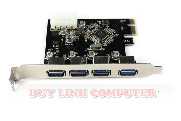 Card PCI E to USB 3.0 ra 4 cổng