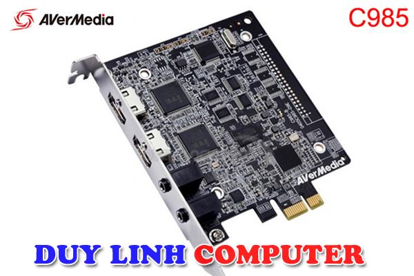 Card PCI-Ex1 ghi hình nội soi, siêu âm Avermedia C985 (GL510E) Capture HDMI 1080p