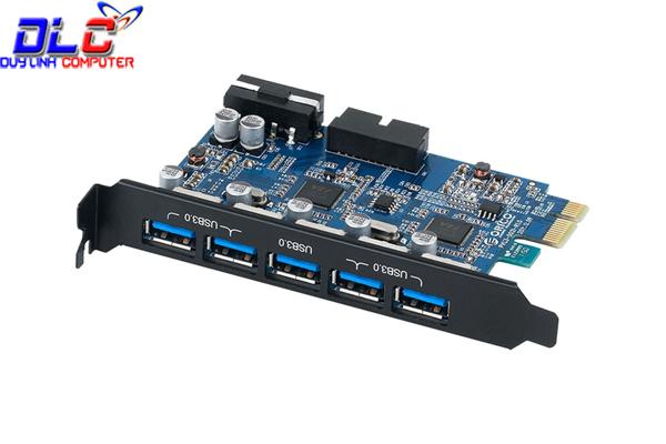 Card PCI Express to 5 cổng USB 3.0 chính hãng Orico PVU3-5O2I tích hợp USB 3.0 20 pin