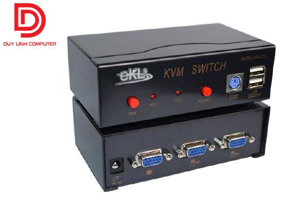 Chia 2 PC ra 1 Màn Hình KVM EKL-21U