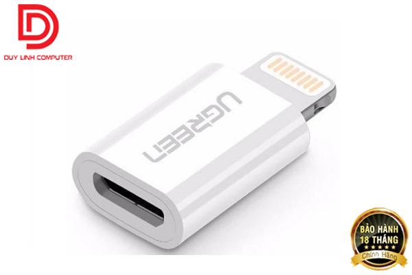 Đầu chuyển Lightning sang Micro USB chính hãng Ugreen 20745