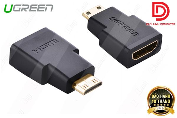 Đầu chuyển Mini HDMI to HDMI (âm) Ugreen 20101