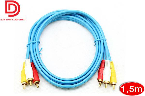 Dây loa AV 3 ra 3 dài 1.5m chính hãng Dtech DT-6205