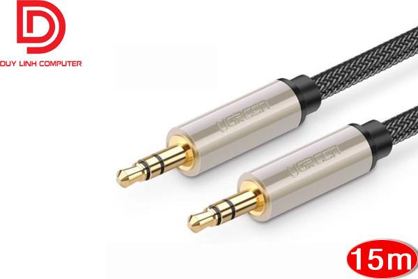 Dây loa cao cấp Ugreen 40787 chuẩn 3.5mm dài 15m chính hãng