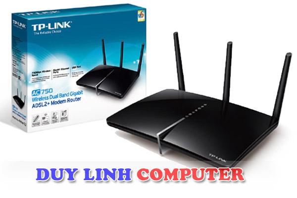 Modem ADSL2 + cổng Gigabit băng tần kép không dây AC750