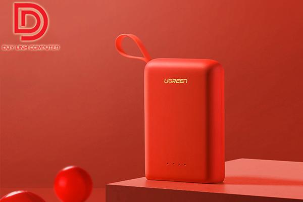 Pin sạc dự phòng màu đỏ Ugreen 60198 dung lượng 10000Mah