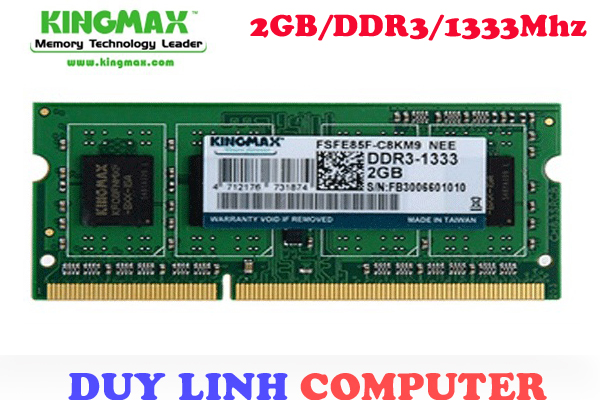 Ram Laptop KingMax 2GB/DDR3/1333mhz