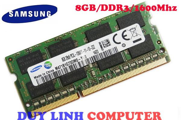 Ram Laptop SAMSUNG 8GB DDR3/1600mhz