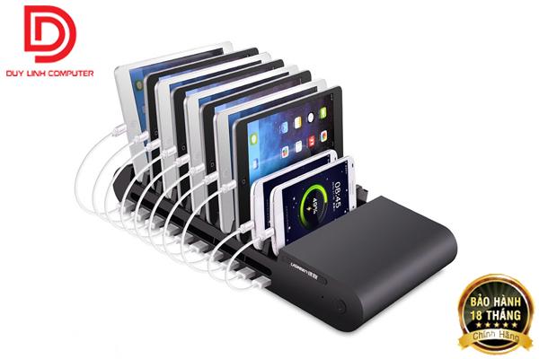 Sạc đa năng cao cấp 96W/12V tích hợp 10 cổng USB, 10 khe cắm chính hãng Ugreen 20325