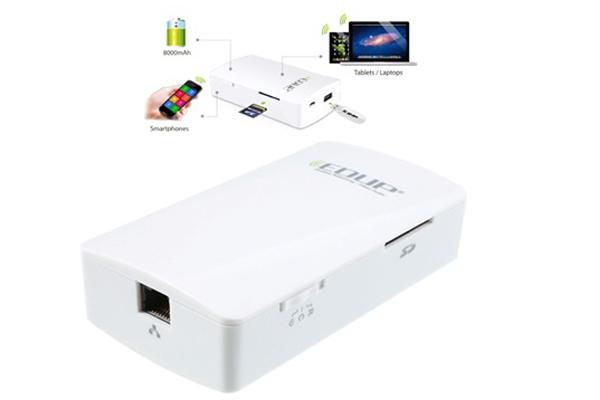 Sạc dự phòng đa năng EDUP 8000mAH - (Power Bank, Wireless Storage, 3G WIFI Router)