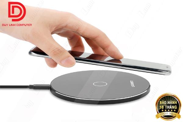 Sạc không dây tốc độ cao chính hãng Ugreen 30570 cho điện thoại SamSung Note5/S6/S7