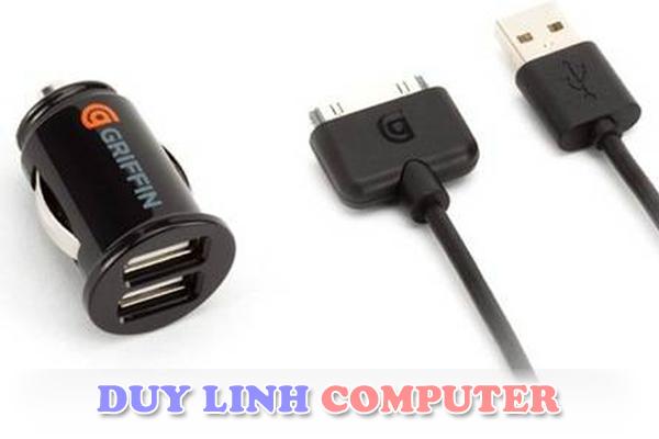 Sạc trên ô tô Griffin - 2 cổng sạc USB