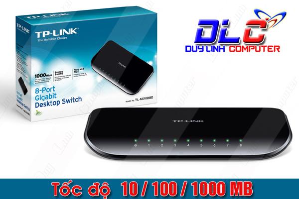 Switch chia mạng 8 cổng Gigabit 100/1000Mb Tp-Link TL-SG1008D