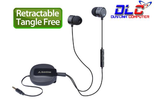 Tai nghe dây rút Avantree ADHF-TR506-BLK cao cấp có mic