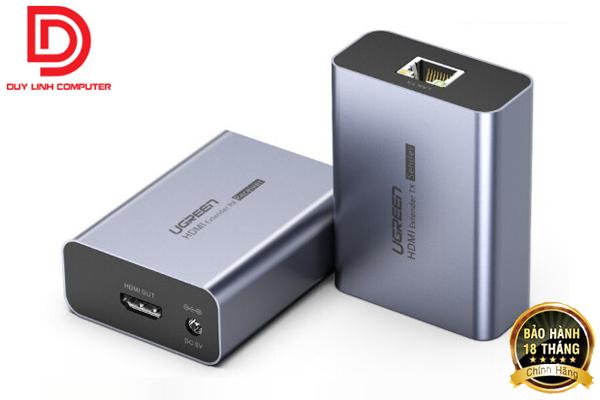 Ugreen 50739 - Bộ kéo dài HDMI 50m qua mạng lan Cat5e, Cat6 chính hãng
